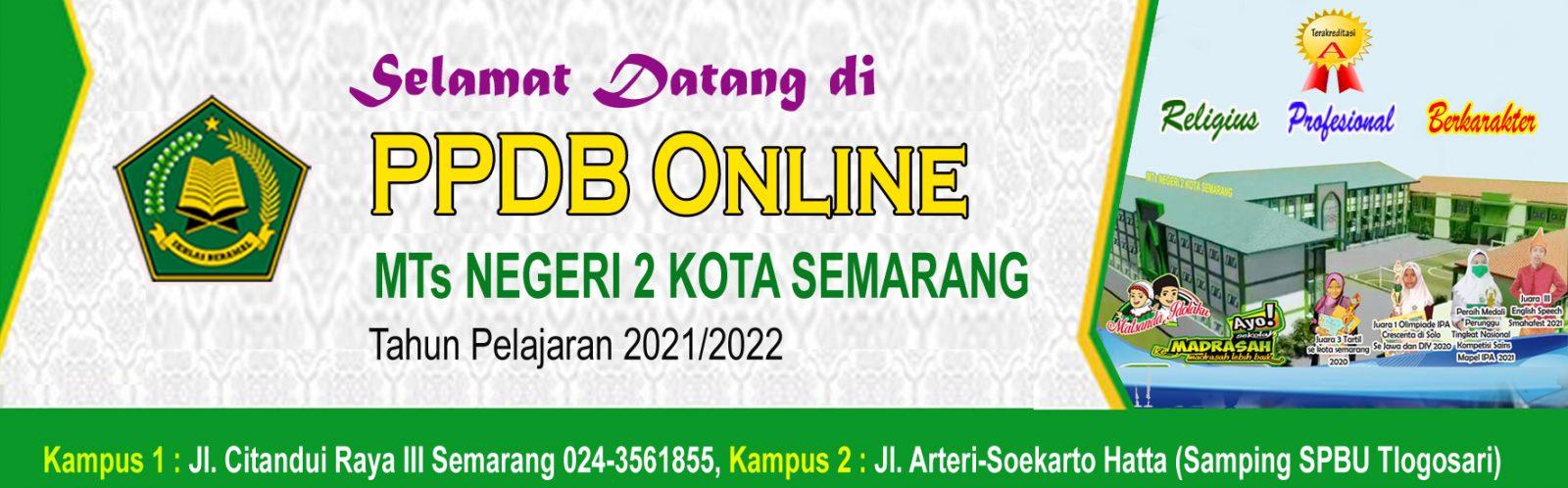 PPDB MTs Negeri 2 Semarang